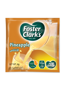 6 grams of foster clark's pineapple flavoured powder drink