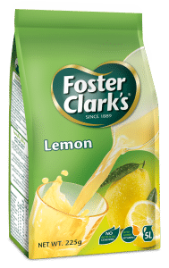 Foster Clark's Lemon FLavoured Powder Drink 225 gram packet