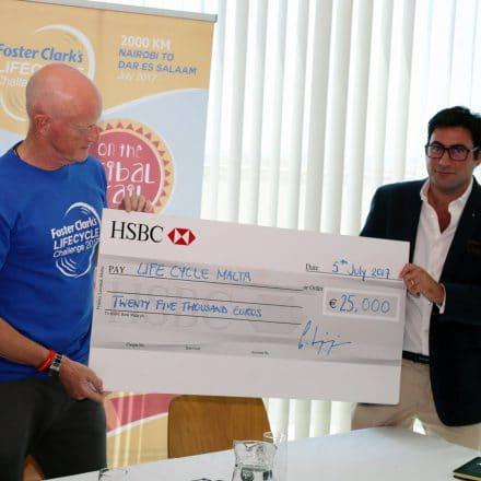 HSBC big cheque